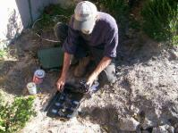 Henderson sprinkler repair service in progress